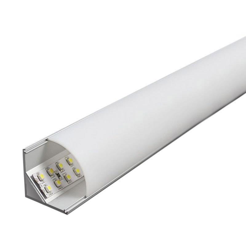 Perfil aluminio kork para tiras led 2 metros perfiles - Tiras de aluminio ...